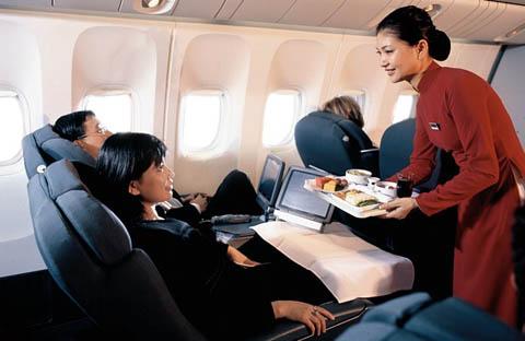 អ្នកបំរើនៅយន្តហោះ Vietnam Airlines ។